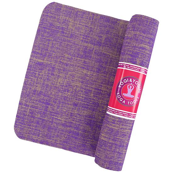 yogamat yogi & yogini jute violet 2135