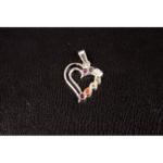 Chakra hanger in hartvorm