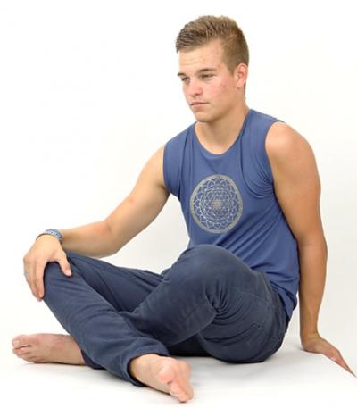 heren Yoga Shirt Yantra mouwloos