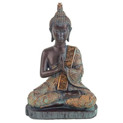 Boeddha in gebed antieke finish Thailand 18102
