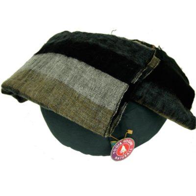 Meditatie omslagdoek zwart met strepen 18092