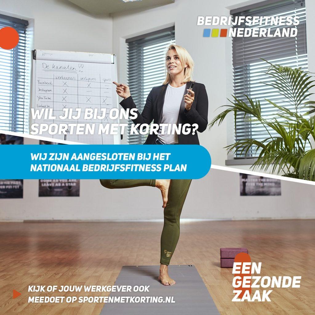 bedrijfsfitness yoga met korting