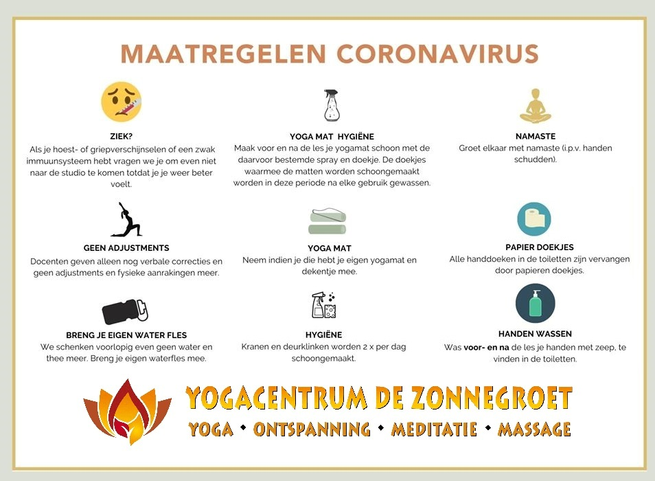 corona virus maatregelen