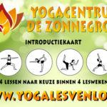 Introductie kaart Yoga & Meditatie & Yogamat