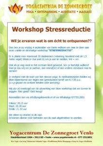 "Workshop ""Stressreductie"""