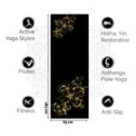 Love Generation Yogamat Legendary Zwart 6MM